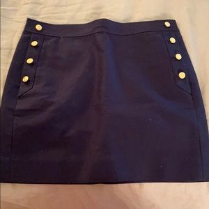 Great navy blue jcrew navy blue skirt with pockets